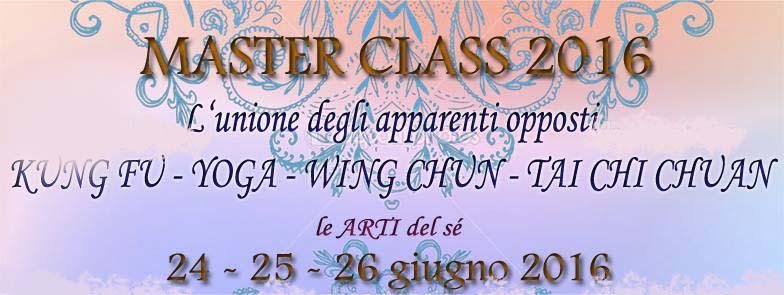 MASTER CLASS 2016 INTRO